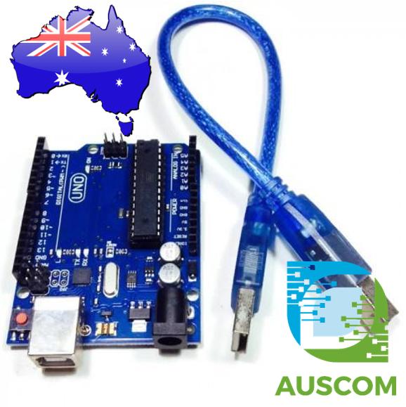 Arduino compatible uno r atmega p usb cable auscom