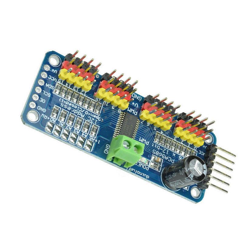 PCA9685 16 Channel 12-bit PWM Servo motor Driver I2C Module Arduino Robot WC