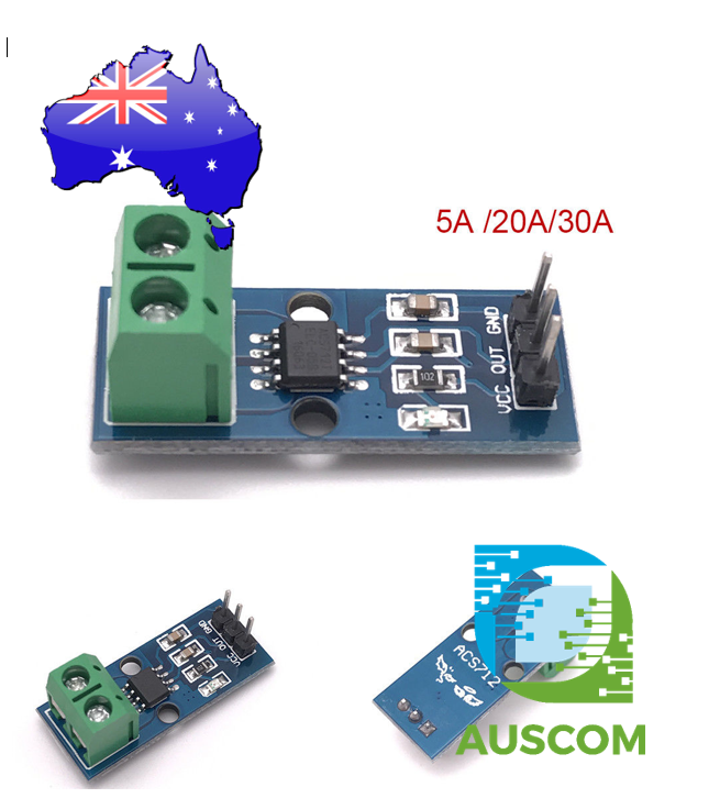 5A 20A 30A Range Current Sensor ACS712 Measuring Module Hall Effect Arduino